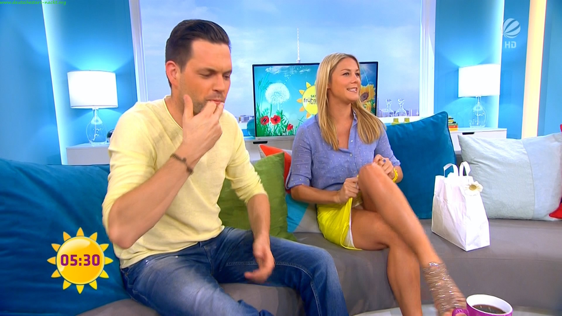 image Marlene lufen german tv host mega upskirt