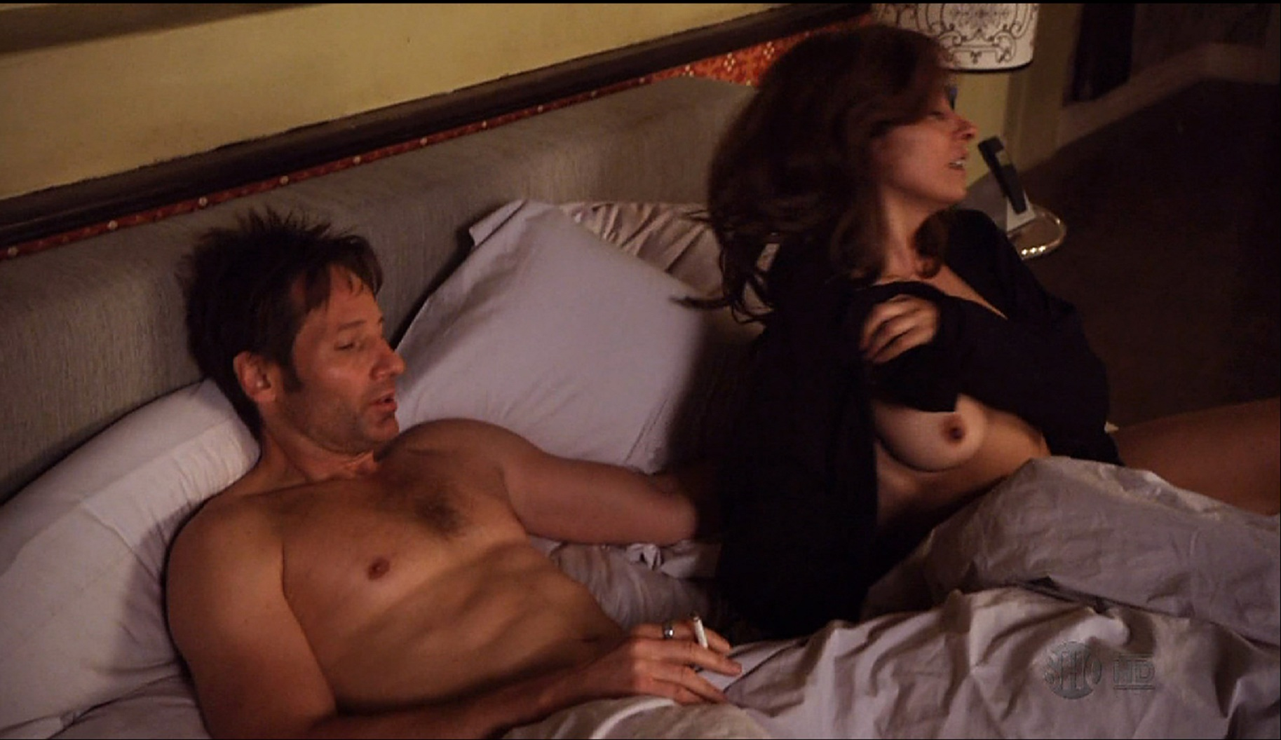 Naked Callie Thorne in Californication